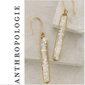 Anthropologie Herkimer Matchstick earrings